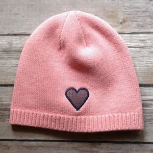 Life is Good Girls Pink Winter Hat